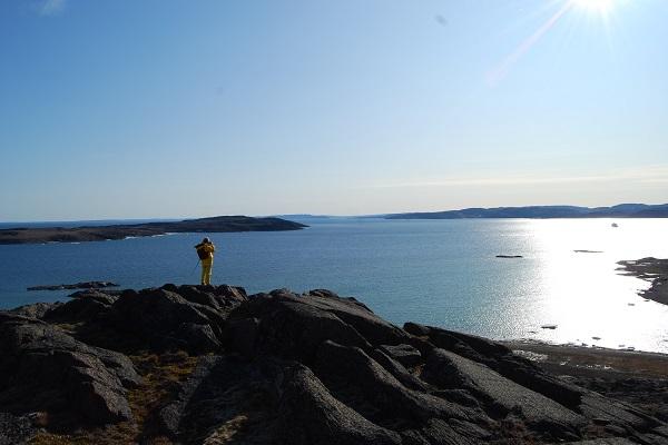 カナダ北極圏バフィン島のフロビッシャー湾