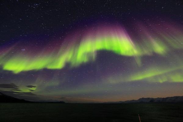 東グリーンランドのオーロラ