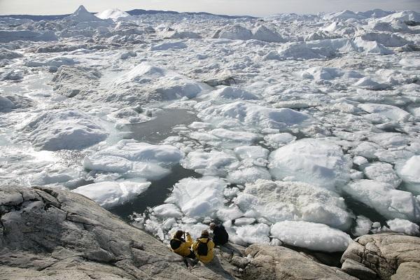 西グリーンランドの世界遺産イルリサットのアイスフィヨルド