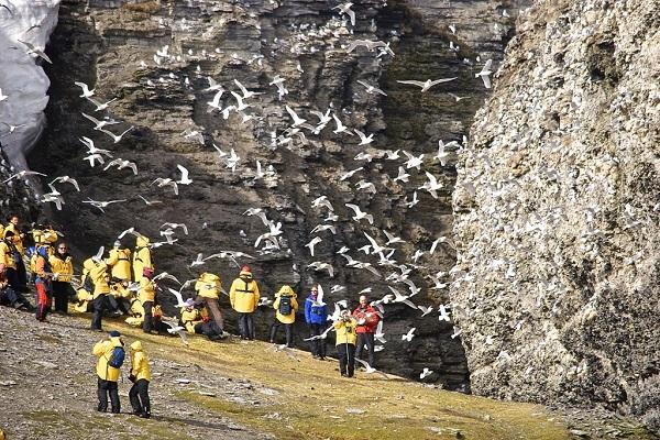 北極スピッツベルゲンクルーズの上陸観光